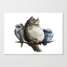 Owl Brothers Canvas Print