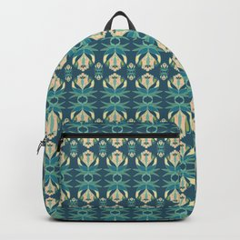 twin teal tulips Backpack