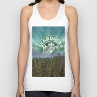 starbucks Tank Tops featuring Starbucks Is Life by Tumblweave