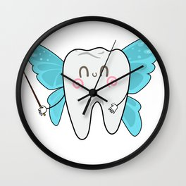 Tooth Fairy Dental Assistant Dentist Wall Clock