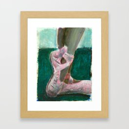 Maya's Slippers Framed Art Print