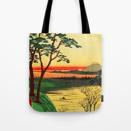 Japanese Tea House on River Tote Bag