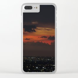 A Sky On Fire Clear iPhone Case