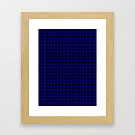 Black and Navy Blue Diamonds Framed Art Print