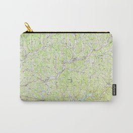 NY Binghamton 137110 1985 topographic map Carry-All Pouch