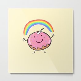 Unicorn donut Metal Print