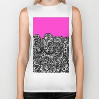 monty python Biker Tanks featuring Python Pink by Hipsterdirtbag