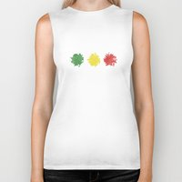 rasta Biker Tanks featuring rasta by kidz18s