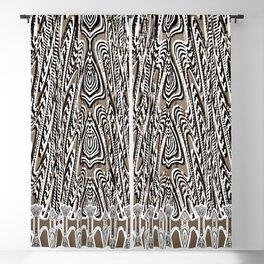 Dark Coffee Macramé Arrowhead Lace Pattern Blackout Curtain