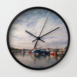 Irish landscape in Howth Wall Clock