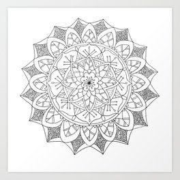 Mandala 8 : Flower Pattern Art Print