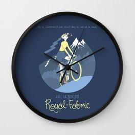 Avec la Bicyclette Wall Clock