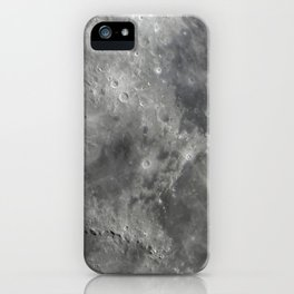 craters on the moon iPhone Case