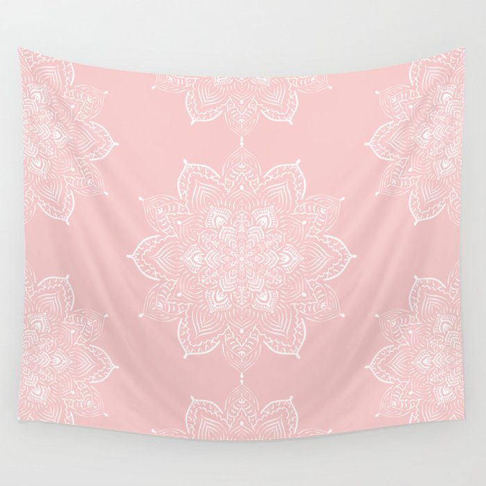 Winter Spirit - Blush Wall Tapestry