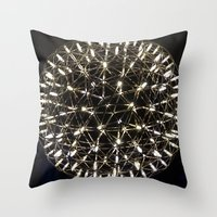 chandelier Throw Pillows featuring Chandelier by waggytailspetportraits