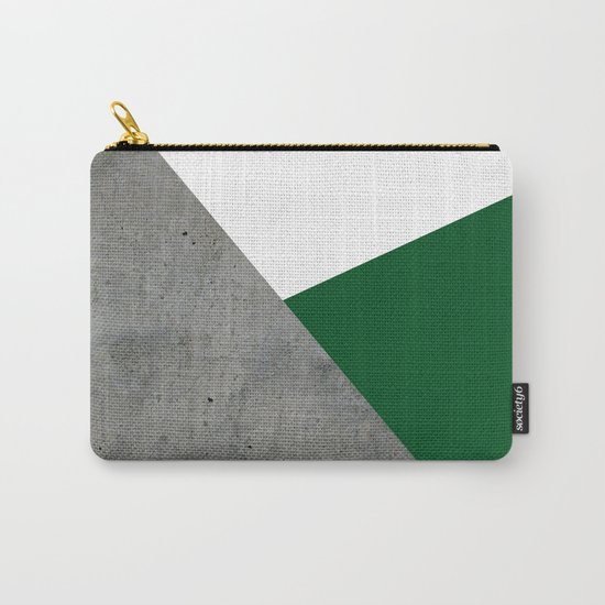Concrete Festive Green White by byjwp