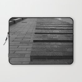 Vertical Brick Wall Architectural Photographic Print Laptop Sleeve