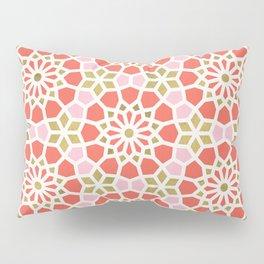 Persian Mosaic – Coral & Gold Palette Pillow Sham