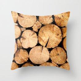 Wood Magic Throw Pillow