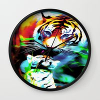 blues brothers Wall Clocks featuring brothers by Nev3r