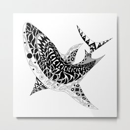 Mr Shark ecopop Metal Print