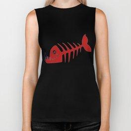 Pirate Bad Fish red- pezcado Biker Tank