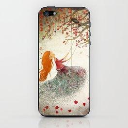 Swinging girl iPhone Skin