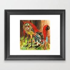 Fox Spirit Watercolor Framed Art Print