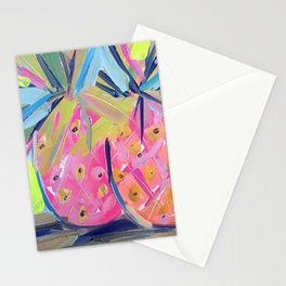 Pineapples with Yellow Stationery Cards