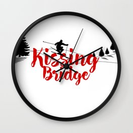 Ski at Kissing Bridge Wall Clock