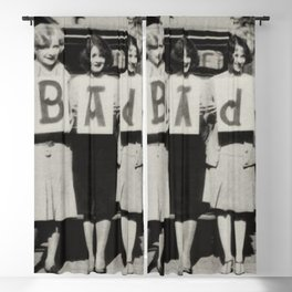 Badass Sorority Sisters vintage black and white humorous photograph Blackout Curtain