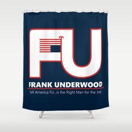 Full FU Logo Shower Curtain