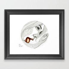 Don't kiss me baby Framed Art Print