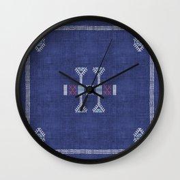 Cactus Kilim Wall Clock