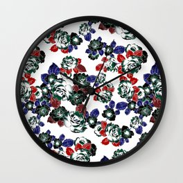 Cool Floral texture Wall Clock