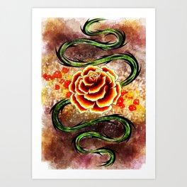 Rose Whip Art Print