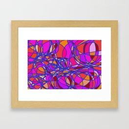 Doodle color blast Framed Art Print