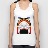 melbourne Tank Tops featuring Melbourne (Full Face Version) by George Williams