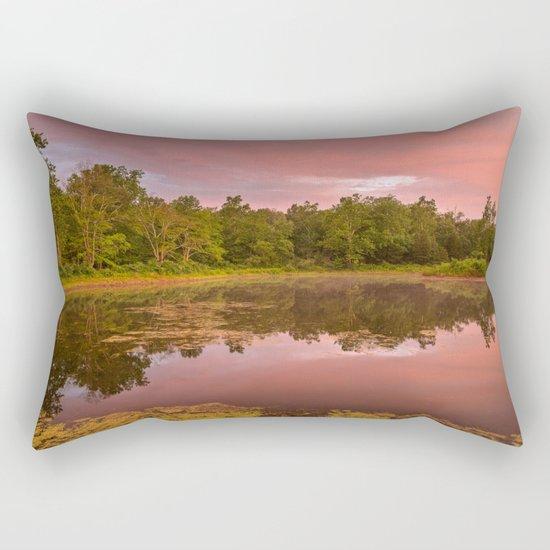 Pink Twilight Marsh Rectangular Pillow