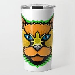 Selkirk Rex Cat Mascot Travel Mug