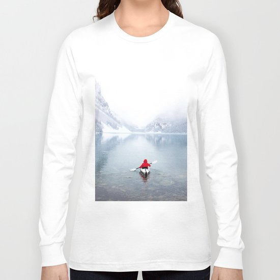 Kayaking Across A Canadian Lake Long Sleeve T-shirt