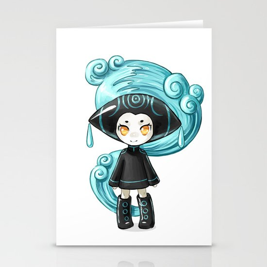 Water Sprite Stationery Cards