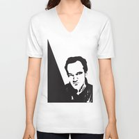 tarantino V-neck T-shirts featuring Tarantino by denrees