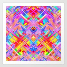 Colorful digital art splashing G470 Art Print