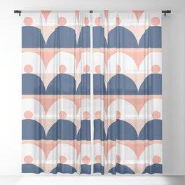 Abstraction_SUN_Mountains_Pattern_Minimalism_001 Sheer Curtain