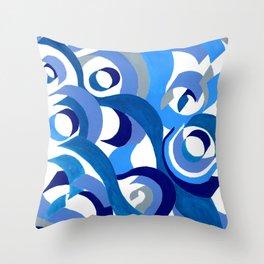 Seigaiha Series - Tenderness Throw Pillow