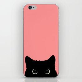 Sneaky black cat iPhone Skin