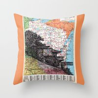 wisconsin Throw Pillows featuring Wisconsin by Ursula Rodgers