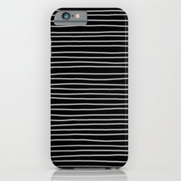 Black and White Pinstripes iPhone Case