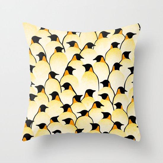 Penguins I Throw Pillow